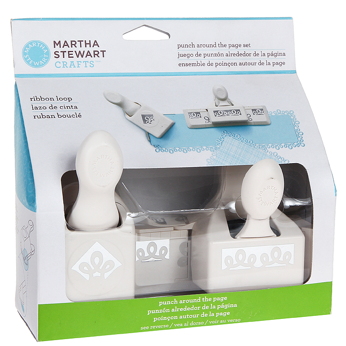 Набор фигурных дыроколов Martha Stewart Петельки, край и угол, 2 шт. EKS-42-60053FS-36054Набор включает 2 фигурных дырокола Martha Stewart, которые позволяют создать фигурный край вокруг листа. Угол и край могут использоваться отдельно. Используются для создания оригинальных открыток, оформления подарков, в бумажном творчестве. Характеристики: Материал: пластик, металл. Размер малого дырокола: 4,5 см х 6 см х 10 см. Размер вырубаемой части: 3 см х 3 см. Размер большого дырокола: 11 см х 4,5 см х 10 см. Размер вырубаемой части: 5,5 см х 1,5 см. Плотность бумаги: 120-160 г/м2 (не более 2 листов одновременно). Артикул: EKS-42-60053. Производитель: США.Рекомендуемый возраст: от 3 лет.