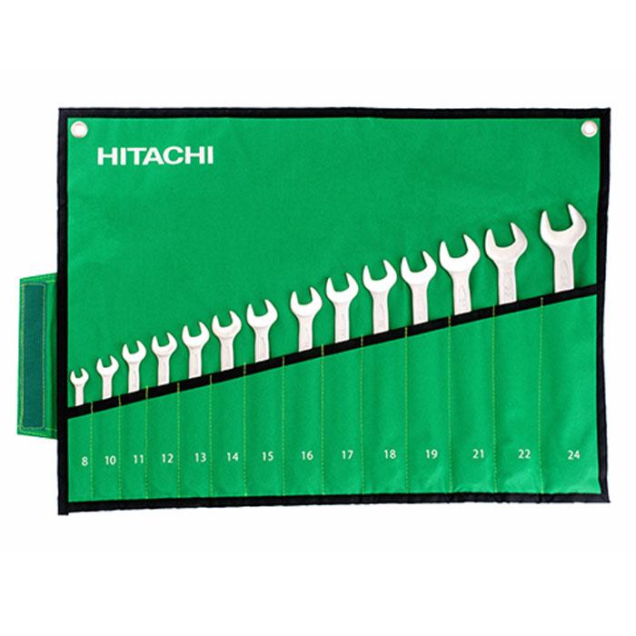 Набор комбинированных ключей Hitachi, 14 шт. HTC-77402080621Набор комбинированных ключей Hitachi станет отличным помощником монтажнику или владельцу авто. Этот набор обеспечит надежную фиксацию на гранях крепежа. Благодаря изогнутой с одной стороны головке, Вы обеспечите себе удобный доступ к элементам крепежа и безопасность.В набор входят ключи на 8 мм, 10 мм, 11 мм, 12 мм, 13 мм, 14 мм, 15 мм, 16 мм, 17 мм, 18 мм, 19 мм, 21 мм, 22 мм, 24 мм. Характеристики: Материал: сталь. Размер упаковки: 33 см х 11 см х 6 см.