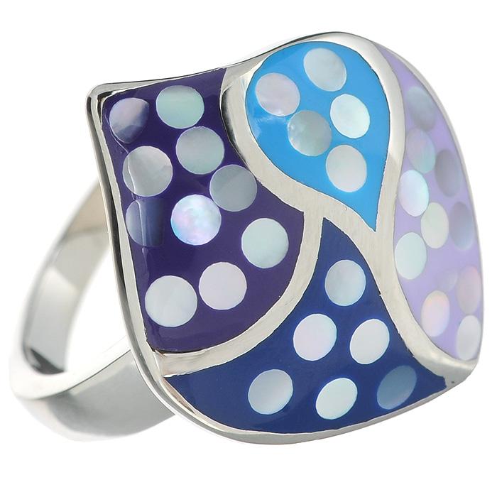 Кольцо Arabesca, цвет: серебристый. Размер 18. 60020238Серьги с подвескамиОригинальное кольцо Arabesca, выполнено из металла с гальваническим покрытием родием, украшено эмалью. Такое кольцо позволит вам с легкостью воплотить самую смелую фантазию и создать собственный, неповторимый образ. Характеристики:Материал: металл, эмаль. Покрытие: родий. Размер кольца: 18 см. Размер декоративной части: 2,5 см х 2 см. Артикул: 60020238.