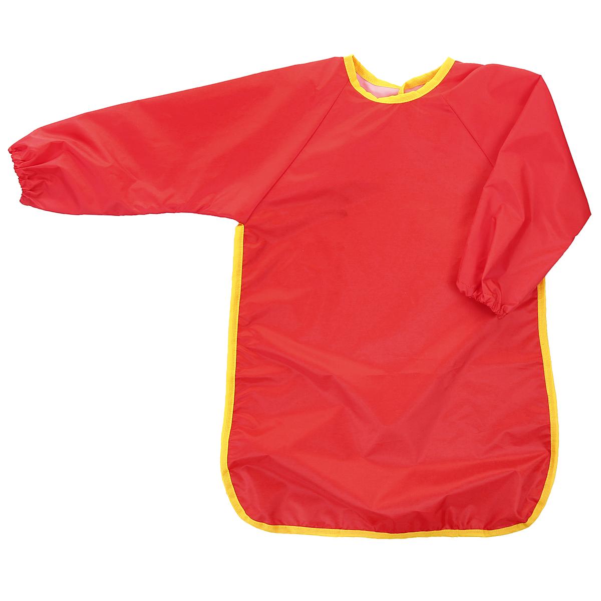 """Универсальный фартук для детского творчества """"Спортбэби"""" надежно защитит одежду и руки ребенка во время занятий рисованием, лепкой и ручным трудом. Фартук с двумя рукавами изготовлен из плотного полиэстера красного цвета. Он надевается спереди как накидка и застегивается на спине с помощью липучки. С фартуком """"Спортбэби"""" ваш малыш сможет смело рисовать, не боясь испачкаться о свой шедевр, лепить из пластилина и заниматься многими творческими делами. Также фартук удобен при кормлении."""