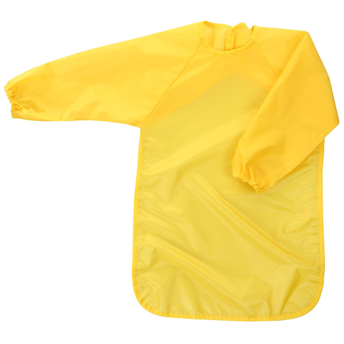 """Универсальный фартук для детского творчества """"Спортбэби"""" надежно защитит одежду и руки ребенка во время занятий рисованием, лепкой и ручным трудом. Фартук с двумя рукавами изготовлен из плотного полиэстера желтого цвета. Он надевается спереди как накидка и застегивается на спине с помощью липучки. С фартуком """"Спортбэби"""" ваш малыш сможет смело рисовать, не боясь испачкаться о свой шедевр, лепить из пластилина и заниматься многими творческими делами. Также фартук удобен при кормлении."""