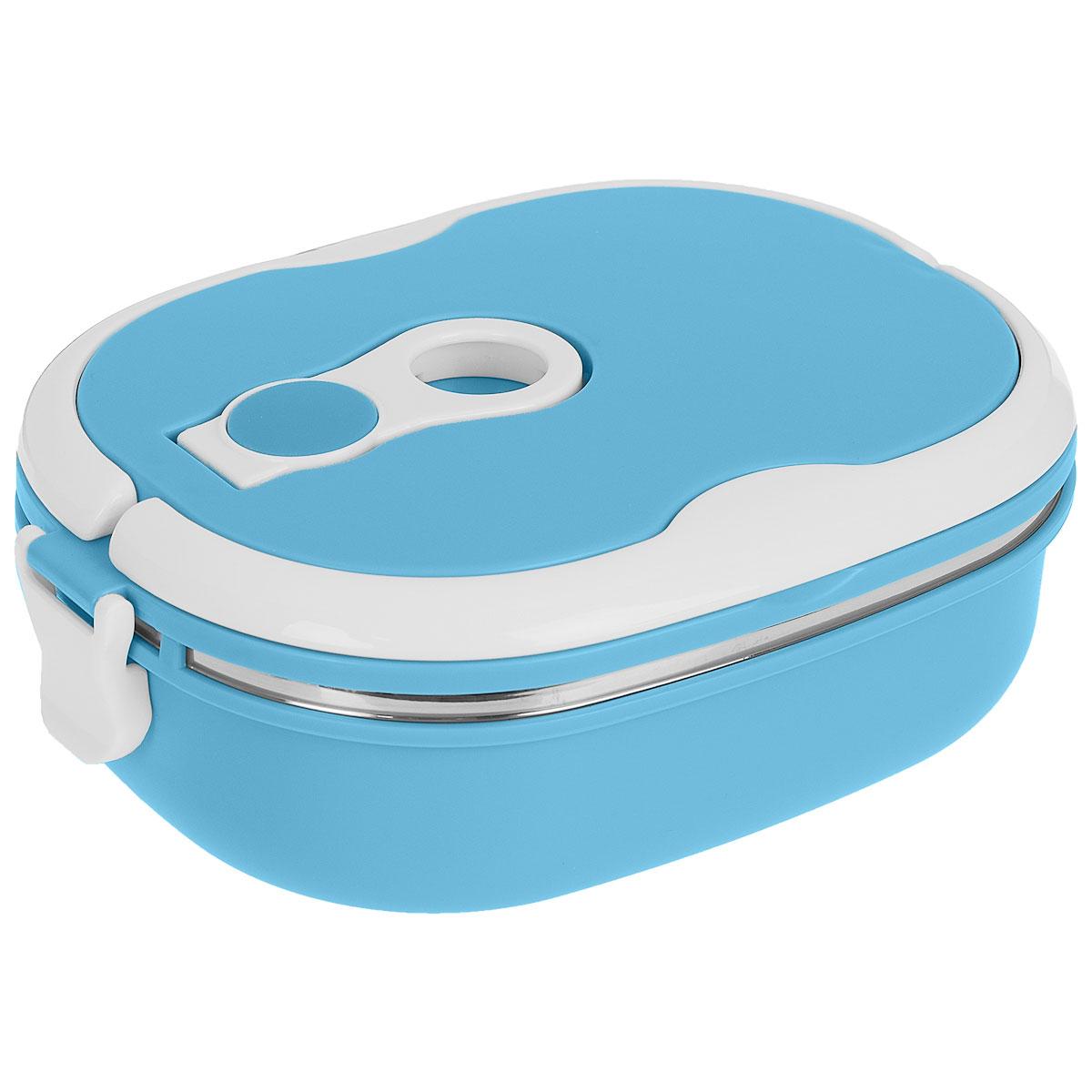 Термо ланч-бокс Bradex Bento, цвет: синий, 0,9 л1301210Компактный термо ланч-бокс Bradex Bento станет незаменимой вещью для офисных работников, водителей, школьников и студентов. Благодаря двойной стенке ланч-бокс сохраняет температуру продуктов в течение 4-5 часов, поэтому вы сможете насладиться теплым обедом и вне дома. Ланч-бокс имеет абсолютно герметичную конструкцию и складные ручки для удобства переноски, также он пригоден для мытья в посудомоечной машине.