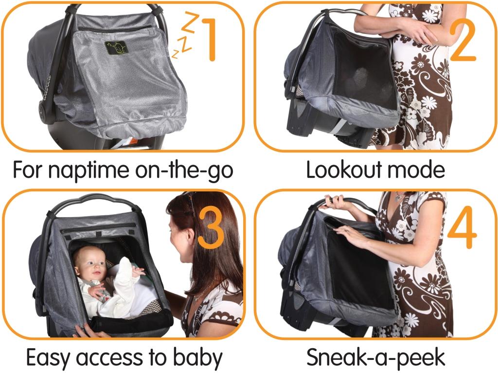 Шторка защитная для детских автокресел SnoozeShade Auto Deluxe шторки на окна от солнца