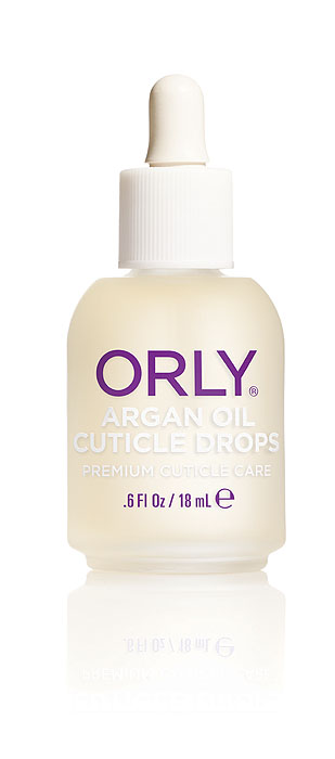 Orly Капли для кутикулы Argan Oil Cuticle Drops с аргановым маслом, 18 мл5010777139655Средство Orly Argan Oil Cuticle Drops разработано на основе уникального масла арганы, которое на 80% состоит из ненасыщенных жирных кислот. Также в его состав входят антиоксиданты и витамины А, Е. Входящие в состав компоненты способствуют снятию воспаления и быстрому восстановлению сухой обезвоженной кутикулы, интенсивно питают и возвращают ногтям здоровый ухоженный вид. Средством легко пользоваться, так как оно имеет удобный пузырек, обеспечивающий капельное нанесение.Способ применения: нанести небольшое количество масла на зону кутикулы и втереть массажными движениями в кожу вокруг ногтя. Рекомендовано для ежедневного использования. Характеристики:Объем: 18 мл. Артикул: 24500. Производитель: США. Товар сертифицирован.Состав: масло семян подсолнечника, масло аргановое, масло жожоба, парфюмерная отдушка, масло вечерней примулы, масло виноградной косточки, лимонное масло, сафлоровое масло, экстракт листьев алоэ-вера, токоферол, бензил бензоат.