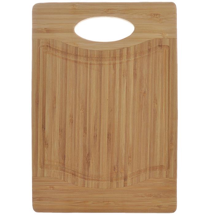 Доска кухонная Flutto, 28,5 см х 19,5 см х 1,5 см. FB-S115510Доска кухонная Flutto изготовлена из бамбука. Прекрасно подходит для приготовления и сервировки пищи. Всем известно, что на кухне без разделочной доски не обойтись! Ведь во время приготовления пищи мы то и дело что-то режем. Поэтому разделочная доска должна быть изготовлена из прочного и экологически чистого материала, ведь с ней соприкасается наша пища. Характеристики:Материал: бамбук. Размер: 28,5 см х 19,5 см х 1,5 см. Производитель: Германия. Артикул: FB-S.