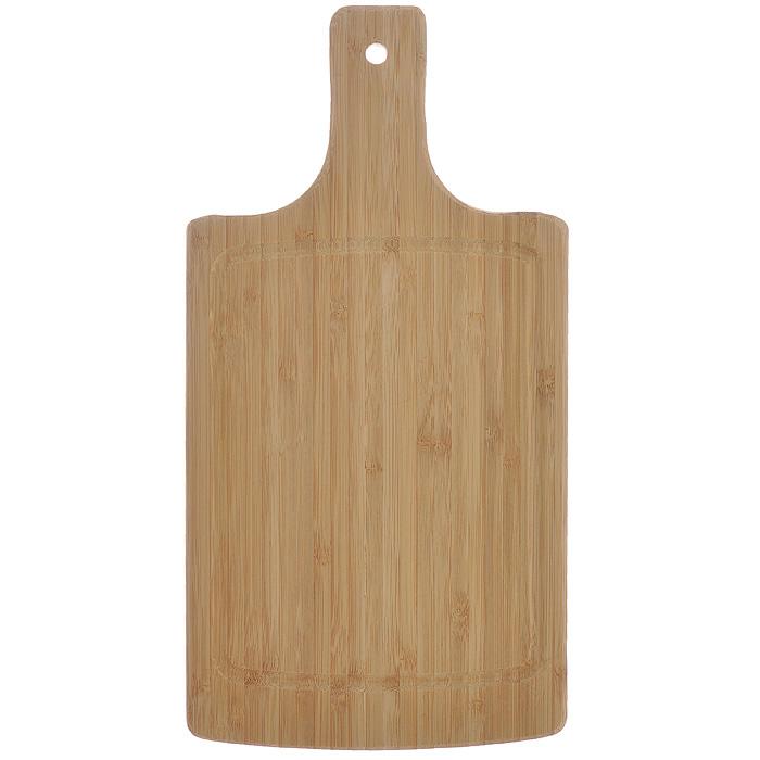Доска кухонная Flutto, 34,5 см х 17,5 см х 1,5 см. FB-P115510Доска кухонная Flutto изготовлена из бамбука. Прекрасно подходит для приготовления и сервировки пищи. Всем известно, что на кухне без разделочной доски не обойтись! Ведь во время приготовления пищи мы то и дело что-то режем. Поэтому разделочная доска должна быть изготовлена из прочного и экологически чистого материала, ведь с ней соприкасается наша пища. Характеристики:Материал: бамбук. Размер: 34,5 см х 17,5 см х 1,5 см. Производитель: Германия. Артикул: FB-P.