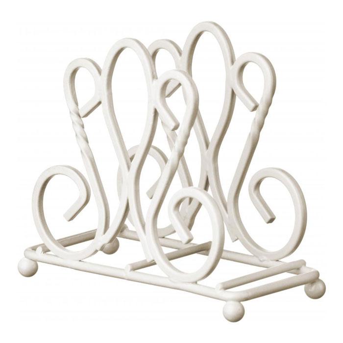 Салфетница Premier Housewares De Lis, цвет: белый115510Оригинальная салфетница Premier Housewares De Lis выполнена из окрашенной стали. Она отличается устойчивостью и вместительностью, а изящный дизайн прекрасно впишется в интерьер вашей кухни. Характеристики:Материал: сталь. Цвет: белый. Размер салфетницы: 14 см х 6 см х 12,5 см. Артикул: 0508282.