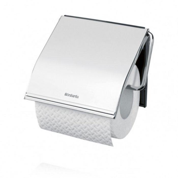 Держатель для туалетной бумаги Brabantia, с крышкой, цвет: серебристый. 41458997678Держатель для туалетной бумаги Brabantia изготовлен из высококачественной листовой стали со стойким антикоррозийным покрытием или хромированной стали, поэтому он идеально подходит для использования в ванной и туалете. Пластина крепления выполнена из пластика.Держатель просто монтировать и легко менять рулон.В комплекте фурнитура для монтажа. Характеристики:Материал: полированная сталь, пластик. Цвет: серебристый. Размер держателя: 12 см х 12,5 см х 1,7 см. Размер упаковки: 13 см х 15,6 см х 1,6 см. Артикул: 414589.Гарантия производителя: 5 лет.