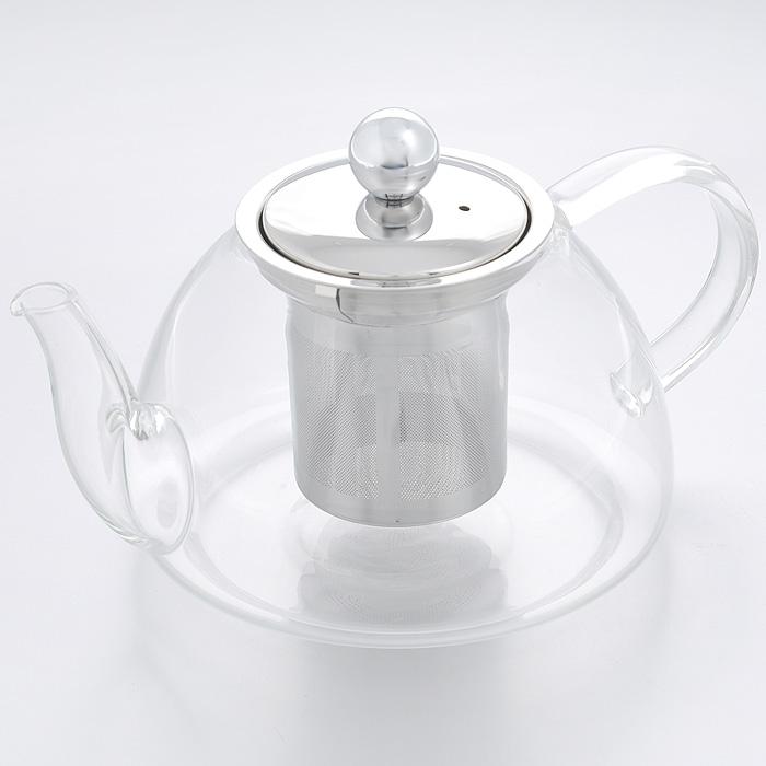 Чайник заварочный Hans & Gretchen, с фильтром, 0,8 л. 14YS-8209115510Заварочный чайник Hans & Gretchen изготовлен из экологически чистых и безопасных материалов. Колба выполнена из прочного термостойкого стекла Pyrex, выдерживающего температуру до 150°С. Пластиковые детали цвета металлик изготовлены из прочного нетоксичного материала. Чайник оснащен металлическим фильтром. Удобная ручка не нагревается в процессе эксплуатации.Чайник используется для приготовления чая. Простой и удобный прибор поможет вам приготовить крепкий, ароматный чай. Рекомендации по использованию: - не используйте посуду в случае появления трещин, - не используйте в СВЧ, - можно мыть в посудомоечной машине.Диаметр по верхнему краю: 8 см.Высота (без учета крышки): 10 см.Высота фильтра: 8 см.