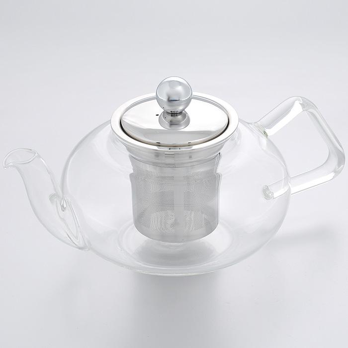Чайник заварочный Hans & Gretchen, с фильтром, 800 мл. 14YS-8206TR-1337Заварочный чайник Hans & Gretchen изготовлен из экологически чистых и безопасных материалов. Колба выполнена из прочного термостойкого стекла Pyrex, выдерживающего температуру до 150°С. Пластиковые детали цвета металлик изготовлены из прочного нетоксичного материала. Чайник оснащен металлическим фильтром.Чайник используется только для приготовления чая. Простой и удобный прибор поможет вам приготовить крепкий, ароматный чай.Рекомендации по использованию: - не используйте посуду в случае появления трещин, - не используйте в СВЧ, - можно мыть в посудомоечной машине.Диаметр по верхнему краю: 8 см.Высота (без учета крышки): 9,5 см.Высота фильтра: 7,5 см.
