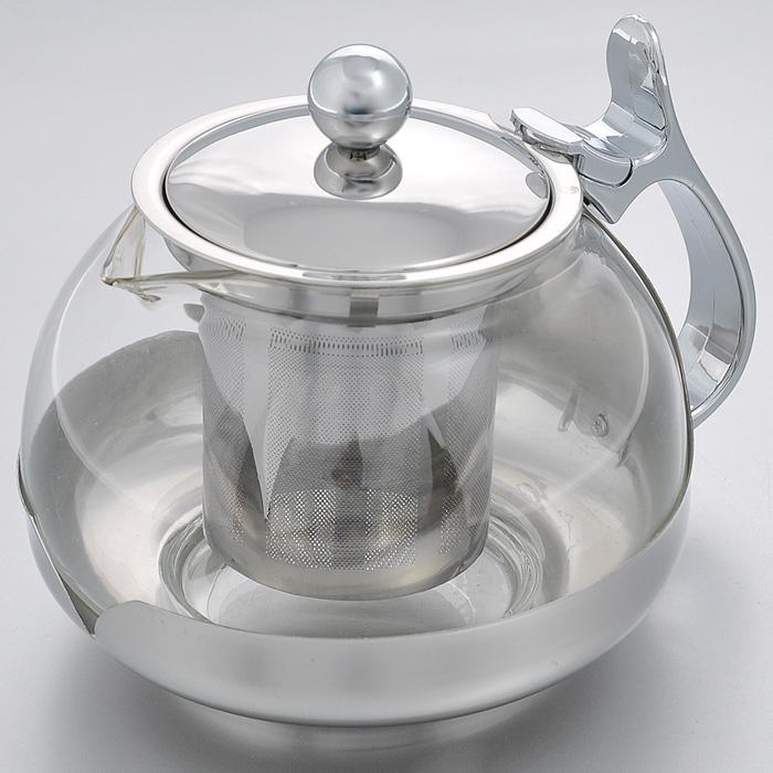 Чайник заварочный Hans & Gretchen, с фильтром, 0,7 л. 14YS-823254 009312Заварочный чайник Hans & Gretchen изготовлен из экологически чистых и безопасных материалов. Колба выполнена из прочного термостойкого стекла, выдерживающего температуру до 100°С. Пластиковые детали цвета металлик изготовлены из прочного нетоксичного материала. Чайник оснащен металлическим фильтром. Удобная ненагревающаяся ручка делает процесс эксплуатации более комфортным. Чайник используется только для приготовления чая. Простой и удобный прибор поможет вам приготовить крепкий, ароматный чай. Рекомендации по использованию: - не используйте посуду в случае появления трещин, - не используйте в СВЧ, - не для использования на любых типах плит, - можно мыть в посудомоечной машине. Диаметр по верхнему краю: 8,5 см.Высота (без учета крышки): 10 см.Высота фильтра: 6,5 см.