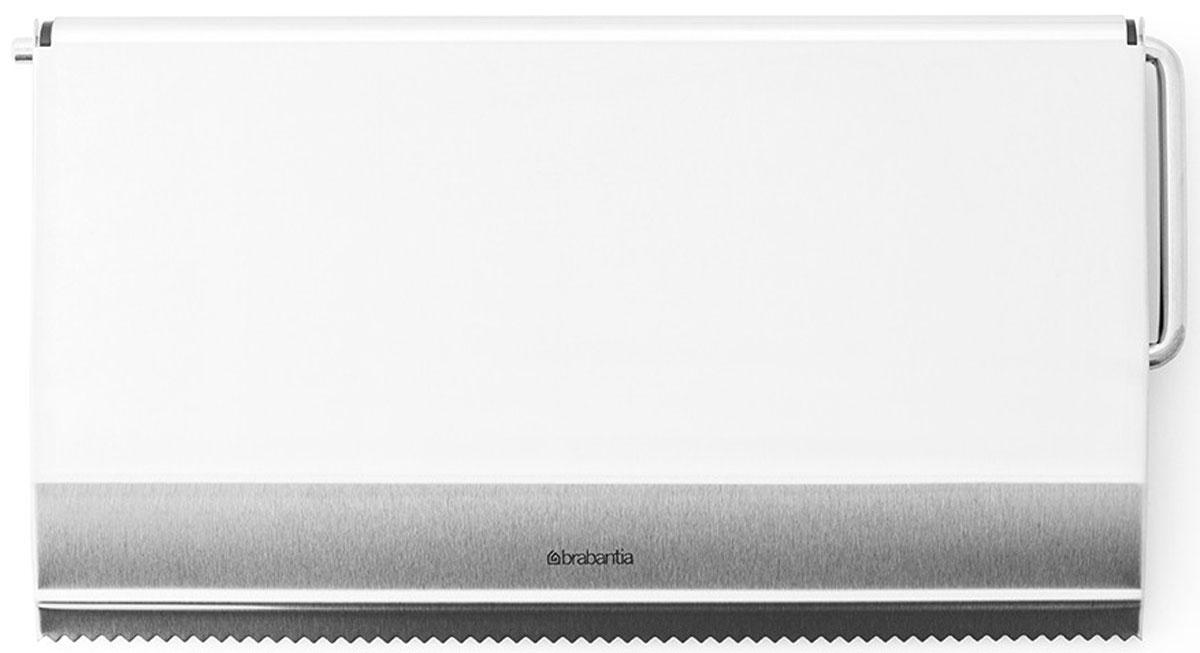 Держатель для бумажного полотенца Brabantia, навесной. 313868313868Настенный держатель для бумажного полотенца Brabantia, выполненный из высококачественной стали с матовой поверхностью, станет непременным атрибутом на любой кухне. Он крепится к стене при помощи двух шурупов с дюбелями (входят в комплект). Характеристики:Материал: сталь. Размер держателя: 25,5 см х 14 см х 2 см. Размер упаковки: 28,5 см х 14 см х 3 см. Артикул: 313868. Гарантия производителя: 5 лет.