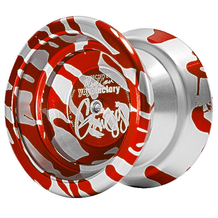 """Йо-Йо YoYoFactory """"Genesis"""", цвет: красный, серебристый"""