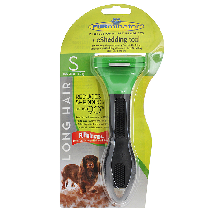 Фурминатор для длинношерстных собак мелких пород FURminator, длина лезвия 4 см фурминатор для собак furminator для длинношерстных средних пород 7см