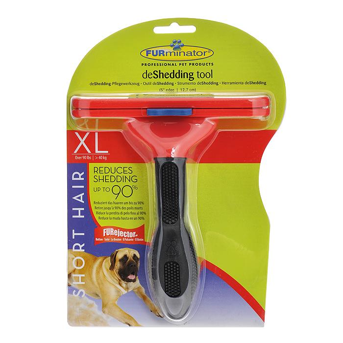 Фурминатор для короткошерстных собак гигантских пород FURminator, длина лезвия 13 см фурминатор для собак короткошерстных пород furminator short hair large dog