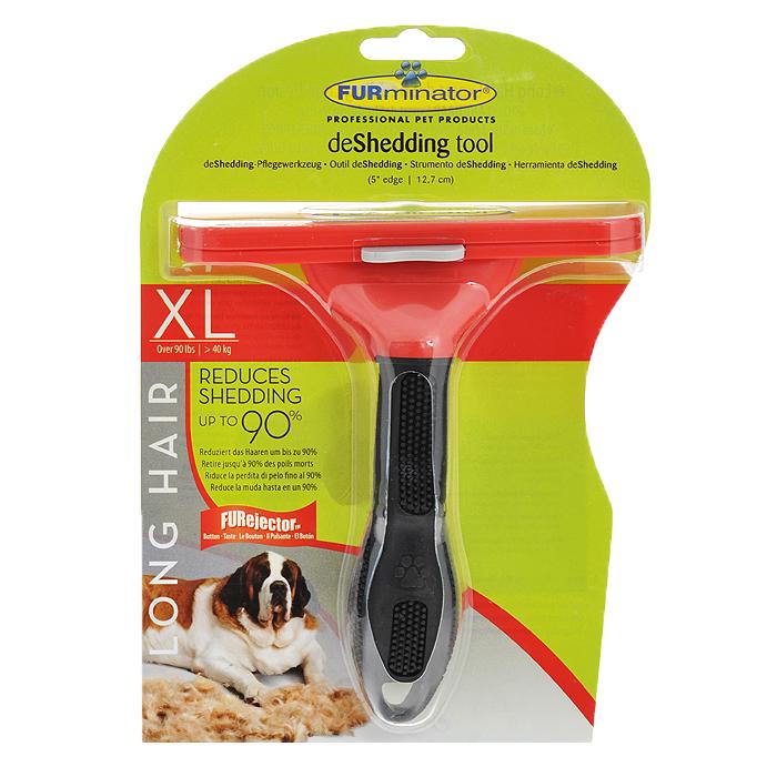 Фурминатор для длинношерстных собак гигантских пород FURminator, длина лезвия 13 см фурминатор для собак furminator для длинношерстных средних пород 7см