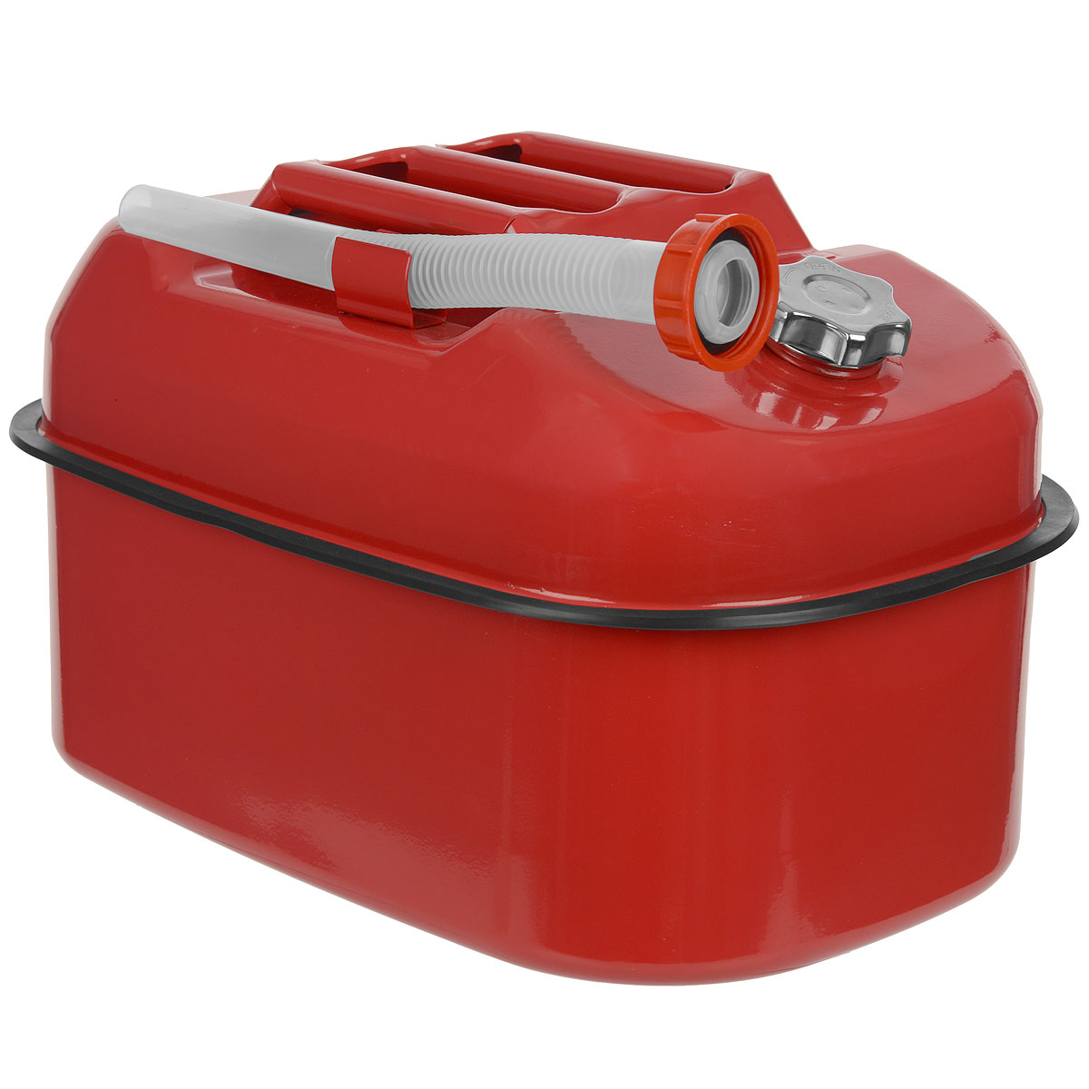Канистра стальная Autoprofi, горизонтальная, 20 л19199Горизонтальная 20-литровая канистра Autoprofi особенно удобна для перевозки топлива в багажнике автомобиля, на квадроцикле, снегоходе или в катере. Горизонтальное распределение центра тяжести снижает риск опрокидывания емкости при транспортировке. Резиновый бортик канистры и отсутствие острых углов защищают от повреждений поверхность изделия и соседние предметы во время движения. Канистра изготовлена из оцинкованной стали, обладающей высокими антикоррозийными свойствами и устойчивостью к агрессивному воздействию залитого топлива. В верхнюю часть канистры встроен регулировочный клапан, который выравнивает давление воздуха внутри емкости с атмосферным, ускоряя процесс заливки и опорожнения. Также с канистрой поставляется длинная гофрированная трубка-лейка. С ее помощью удобно заливать топливо в горловину бака любой конфигурации. Характеристики: Материал: оцинкованная сталь. Цвет: красный. Объем: 20 л. Размер канистры (ДхШхВ): 40 см х 28 см х 27 см. Размер упаковки: 44 см х 31 см х 29 см. Артикул: KAN-500 (20L).