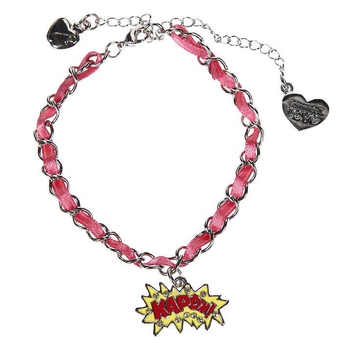 Женский браслет Kimmidoll Руби Байт (Мастерство и ловкость), цвет: серебристый, розовый. KLF171Глидерный браслетОчаровательный браслет, выполненный с подвеской Руби Байт и двух дополнительных подвесок из высококачественного металла, оформлен стразами и элегантной ленточкой, упакован в подарочную коробку. Такой браслет прекрасно подойдут к Вашему образу, как на отдыхе, так и в повседневной жизни.Привет, меня зовут Умница Руби Байт! Я талисман мастерства и ловкости. Я лучшая среди всех! Её неповторимое мастерство и ловкость впечатляют также, как и ее уникальные знания. Эта девушка-геймер никогда не перестаёт удивлять!!! Характеристики: Материал: металл, стразы, текстиль. Цвет: серебристый, розовый. Обхват браслета: 16 см. Размер подвески: 2,5 см х 1 см х 0,3 см. Размер упаковки: 9 см х 9,5 см х 1,5 см. Производитель: Китай. Артикул: KLF171.