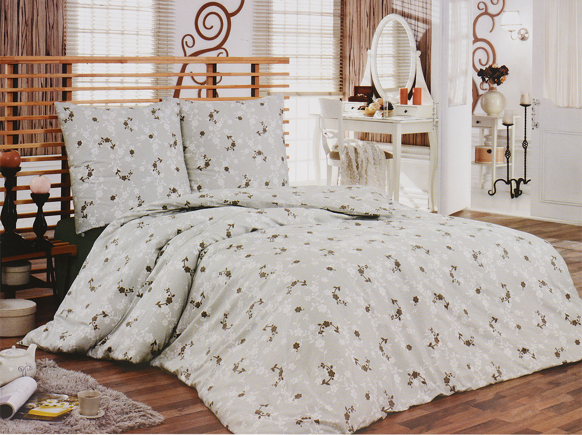 Комплект белья Tete-a-Tete Консуэло (1,5 КПБ, сатин, наволочки 70х70), цвет: бежевый391602Комплект постельного белья Tete-a-Tete Консуэло является экологически безопасным для всей семьи, так как выполнен из натурального хлопка (сатина). Комплект состоит из простыни, пододеяльника и двух наволочек. Предметы комплекта оформлены изящным цветочным принтом.Сатин производится из высших сортов хлопка, а своим блеском, легкостью и на ощупь напоминает шелк. Такая ткань рассчитана на 200 стирок и более. Постельное белье из сатина превращает жаркие летние ночи в прохладные и освежающие, а холодные зимние - в теплые и согревающие. Благодаря натуральному хлопку, комплект постельного белья из сатина приобретает способность пропускать воздух, давая возможность телу дышать. Одно из преимуществ материала в том, что он практически не мнется, и ваша спальня всегда будет аккуратной и нарядной. Характеристики: Страна: Турция. Материал: сатин (100% хлопок). Размер упаковки: 29 см х 37 см х 7 см. В комплект входят:Пододеяльник - 1 шт. Размер: 150 см х 215 см. Простыня - 1 шт. Размер: 160 см х 215 см. Наволочка - 2 шт. Размер: 70 см х 70 см. Коллекция постельного белья Tete-a-Tete - российская новинка, выполненная в лучших европейских традициях из роскошного премиум-сатина (более плотного и мягкого по сравнению с обычным сатином). Потребительские качества постельного белья Tete-a-Tete обусловлены выбором материала для пошива. Компания использует 100% египетский хлопок для изготовления тканей. Качество красителей и ткани надолго позволяют сохранить яркость цветов.