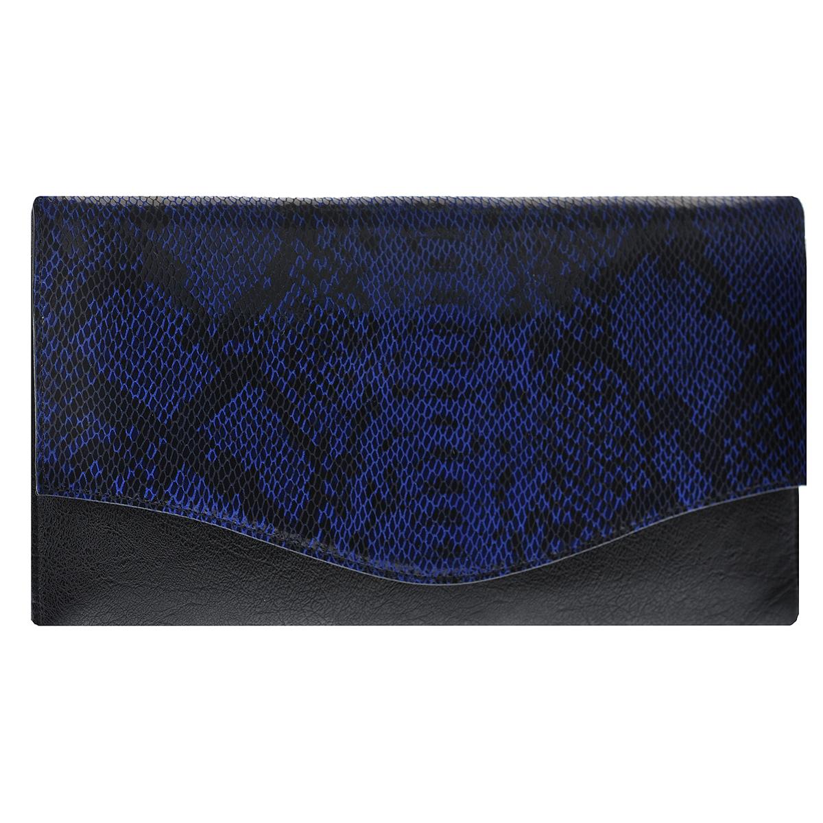 Сумка женская Fancy bag, цвет: черный, синий. 8815В-60205065-001Стильная сумка Fancy bag выполнена из искусственной кожи черного цвета и декорирована тиснением под рептилию. Сумка имеет одно отделения, закрывающихся клапаном на две магнитные кнопки. Внутри расположен вшитый карман на застежке-молнии и два накладных кармана для мелочей. В комплекте чехол для хранения и съемный плечевой ремень.Этот стильный аксессуар станет великолепным дополнением вашего образа. Характеристики: Материал: натуральная кожа, текстиль, металл. Размер сумки: 32 см х 16 см х 3 см. Высота ручек: 99 см. Цвет: черный, синий. Артикул: 8815В-60.
