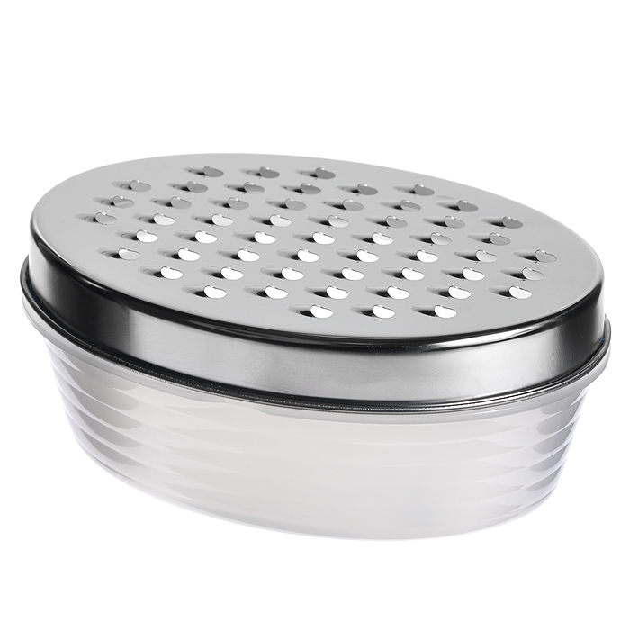 ТеркаAtlantis с лотком54 009312Терка с лотком Atlantis, изготовленная из металла и пластика, непременно понравится каждой хозяйке. Она установлена на специальный контейнер и надежно закреплена.Терка Atlantis станет незаменимым помощником на вашей кухне и понравится любой хозяйке. Характеристики:Материал:металл, пластик. Размер рабочей поверхности терки:17 см х 11,5 см. Размер контейнера:17,5 см х 12 см х 5 см. Артикул: G017.