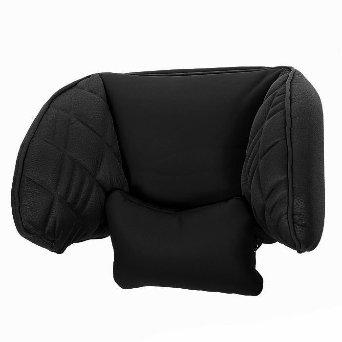 Подголовник универсальный Autoprofi Comfort, цвет: черныйCOM-0250HR BK/BKПодголовник универсальный Autoprofi Comfort предназначен для использования с любыми автомобильными креслами со съемными подголовниками. Легко фиксируется на штатном подголовнике при помощи текстильных строп с надежными защелками. Оснащен съемным шейным упором-подушкой и пластиковым каркасом для боковой поддержки головы.Характеристики: Материал: экокожа, 3В-полиэстер с наполнителем из синтепона.Размер подголовника: 29 х 15 х 24 см.