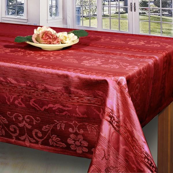 Скатерть Schaefer, цвет: красный, 130x 170 см. 06395-429VT-1520(SR)Великолепная скатерть Schaefer, выполненная из полиэстера, органично впишется в интерьер любого помещения, а оригинальный дизайн удовлетворит даже самый изысканный вкус. Скатерть изготовлена из материала красного цвета имитирующего по фактуре натуральный лен и обладает водоотталкивающими свойствами. По краю вышита Мережка в два ряда. Это текстильное изделие станет удобным и оригинальным украшением вашего дома! Характеристики:Материал: 100% полиэстер. Размер скатерти: 130 см х 170 см.Производитель: Германия. УВАЖАЕМЫЕ КЛИЕНТЫ! Обращаем ваше внимание, что в комплектацию товара входит только скатерть, остальные предметы служат лишь для визуального восприятия товара.
