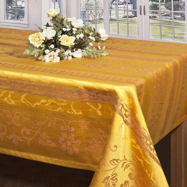 Скатерть Schaefer, прямоугольная, цвет: золотистый, 130x 170 смWКTC72-253Прямоугольная скатерть Schaefer выполнена из сочетания полиэстера и хлопка золотистого цвета с печатным рисунком в виде изысканных цветов. Использование такой скатерти сделает застолье более торжественным, поднимет настроение гостей и приятно удивит их вашим изысканным вкусом. Также вы можете использовать эту скатерть для повседневной трапезы, превратив каждый прием пищи в волшебный праздник и веселье. Характеристики:Материал: 100% полиэстер. Размер скатерти:130 см х 170 см. Цвет: золотистый.Немецкая компания Schaefer создана в 1921 году. На протяжении всего времени существования она создает уникальные коллекции домашнего текстиля для гостиных, спален, кухонь и ванных комнат. Дизайнерские идеи немецких художников компании Schaefer воплощаются в текстильных изделиях, которые сделают ваш дом красивее и уютнее и не останутся незамеченными вашими гостями. Дарите себе и близким красоту каждый день!УВАЖАЕМЫЕ КЛИЕНТЫ! Обращаем ваше внимание, что в комплектацию товара входит только скатерть, остальные предметы служат лишь для визуального восприятия товара.