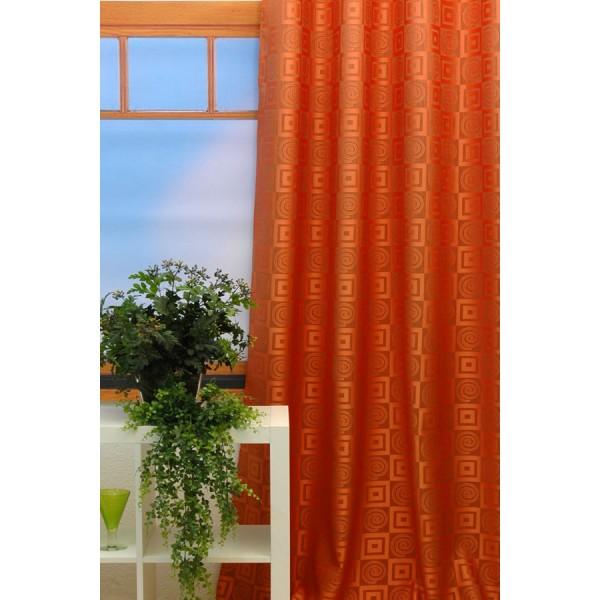Гардина Schaefer на петлях, цвет: оранжевый, 140 х 245 см 06923-596 гардина schaefer на петлях цвет оранжевый черный 140 см х 245 см 06929 596