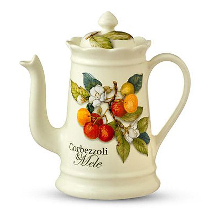 Кофейник Nuova Cer Итальянские фрукты, 900 мл115510Кофейник Nuova Cer Итальянские фрукты прекрасно подойдет для вашей кухни. Он выполнен из первоклассной керамики и украшен изображением фруктов. Изящный дизайн кофейника придется по вкусу и ценителям классики, и тем, кто предпочитает утонченность и изысканность.Мыть с применением жидких моющих средств. Характеристики: Материал: керамика. Объем: 900 мл. Высота (без крышки): 17 см. Цвет:бежевый.