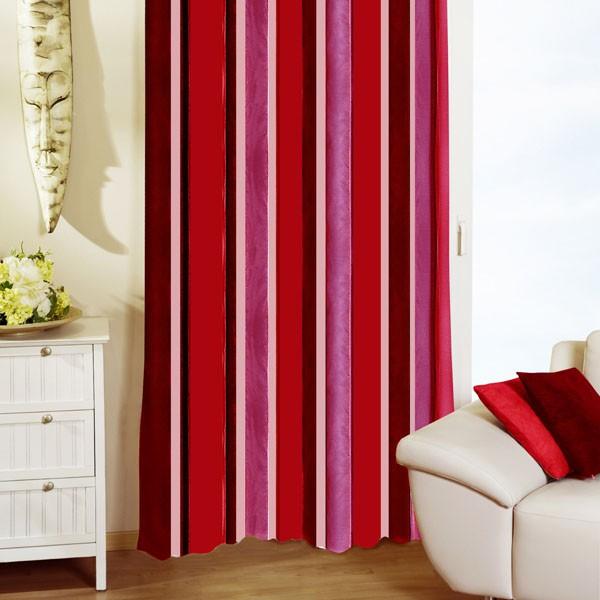 Гардина Schaefer на петлях, цвет: бордовый, красный, розовый, 140 х 245 см 07153-596 гардина schaefer на петлях цвет оранжевый черный 140 см х 245 см 06929 596