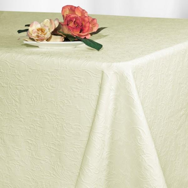 Скатерть Schaefer, прямоугольная, цвет: шампань, 130x 170 см. 41274127/FB.00-130*170Великолепная скатерть Schaefer, выполненная из полиэстера, органично впишется в интерьер любого помещения, а оригинальный дизайн удовлетворит даже самый изысканный вкус. Скатерть изготовлена из материала цвета шампань с выпуклым орнаментом и обладает жироводооталкивающими свойствами, хорошо держит форму и лежит на столе.Это текстильное изделие станет удобным и оригинальным украшением вашего дома! Характеристики: Материал: 30% полиэстер, 70% хлопок. Размер: 130 см х 170 см. Цвет: шампань.