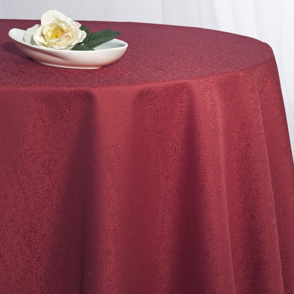 Скатерть Schaefer, круглая, цвет: красный, диаметр 170 см. 41704170/FB.04-170Великолепная скатерть Schaefer, выполненная из полиэстера, органично впишется в интерьер любого помещения, а оригинальный дизайн удовлетворит даже самый изысканный вкус. Скатерть изготовлена из материала красного цвета с орнаментом и обладает жироводооталкивающими свойствами.Это текстильное изделие станет удобным и оригинальным украшением вашего дома! Характеристики: Материал: 100% полиэстер. Размер: 170 см х 170 см. Цвет: красный.