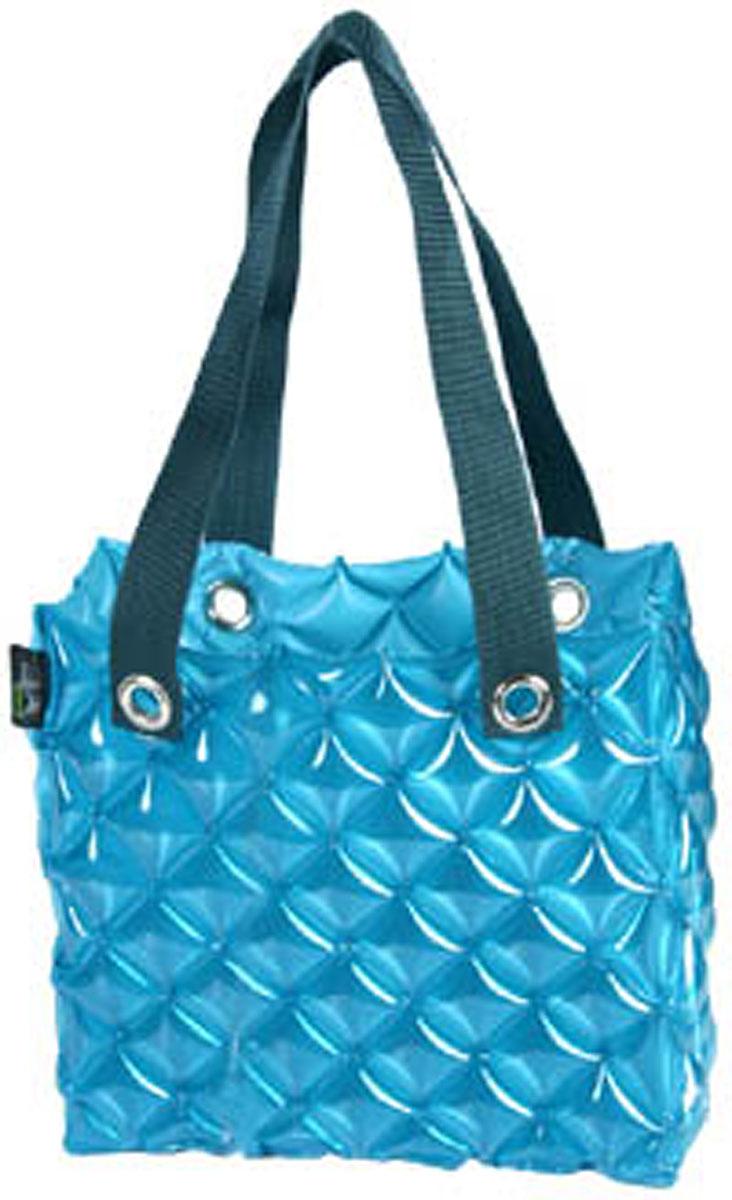 Сумка надувная Inflat Decor, цвет: голубой. 0079P713R-RЯркая надувная сумка - великолепный аксессуар на лето! Сумка прямоугольной формы выполнена из ПВХ и снабжена ручками из полиэстера. Сумка легко надувается при помощи мини-насоса (входит в комплект) или рта. В сдутом виде сумка очень компактна и не займет много места. Надувная вместительная сумка - отличное решение для отдыха на пляже. Характеристики: Материал: ПВХ, полиэстер.Размер сумки: 33 см х 35,6 см х 14 см.