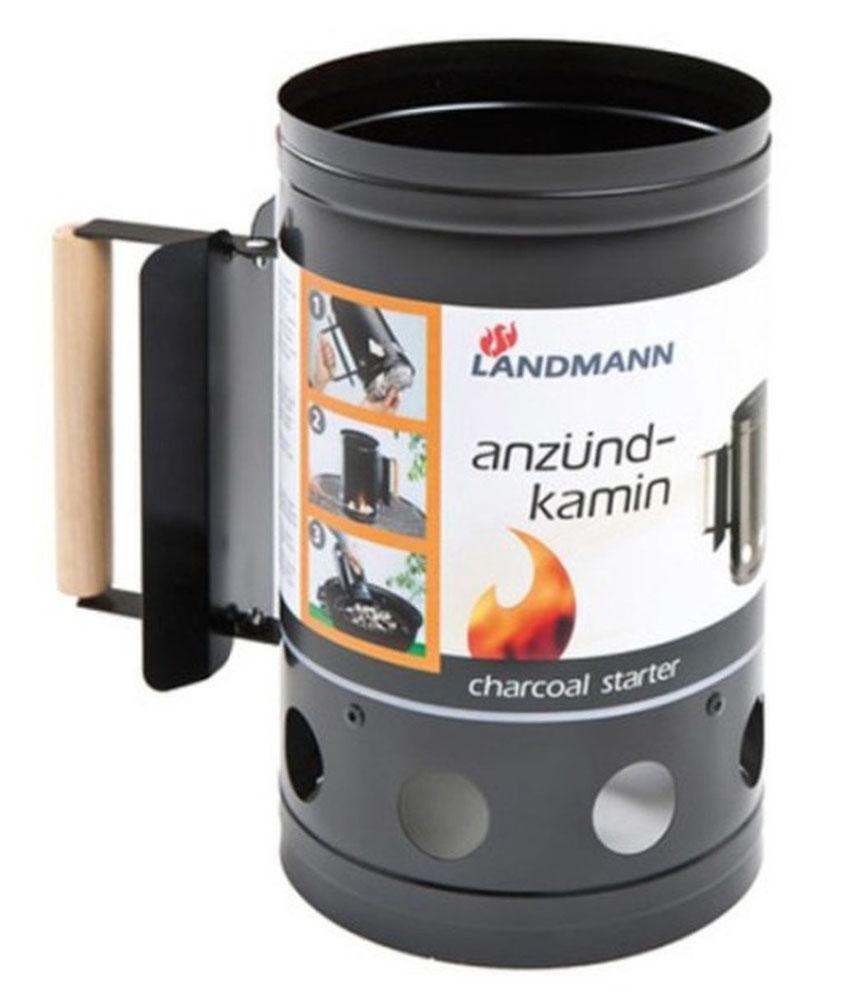 Емкость для розжига угля Landmann. 131П-6Емкость Lanmann заполняется углем/брикетами, обкладывается бумагой и поджигается. Готовность углей для использования определяется по внешнему виду: они должны раскалится до красна и покрыться пеплом. Тогда их можно пересыпать в барбекю держась за деревянную ручку. Идеально подходит для барбекю. Характеристики:Материал: металл, дерево. Размер емкости: 28 см х 15 см х 15 см. Артикул: 131.