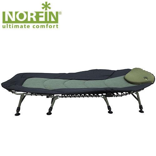 Кровать карповая Norfin Bradford NFFC630-68080Кровать складная Norfin Bradford NF, максимально просторная. Рама с эластичным матрасом. Сложная форма спинки для дополнительного комфорта, мягкая подушка,восемь трехсекционных независимо регулируемых по высоте ножек с широкими опорами. Характеристики: Материал: полиэстер, алюминий. Размер кровати: 215 см х 90 см х 38 см. Размер кровати в сложенном виде: 100 см х 85 см х 23 см. Максимальная нагрузка: 200 кг. Диаметр трубок каркаса: 2,2 см, 2,5 см.