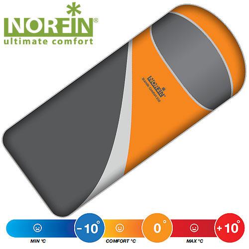 Мешок-одеяло спальный Norfin SCANDIC COMFORT 350 NS L, цвет: оранжевый/серый, левосторонняя молнияKOC2028LEDКомфортный спальный мешок-одеяло Norfin Scandic Comfort 350 NS L, рассчитан на три сезона использования. Внешняя и внутренняя ткани прочны и комфортны. Наиболее подходящая модель как для кемпинга, так и для треккинга. Особенности:-лента от закусывания ткани замком -теплый воротник -отделение под подушку с двумя входами -возможность состегивать спальники -планка, утепляющая молнию -внутренний карман -петли для просушки -петля на замке для удобства открывания -компрессионный мешок.