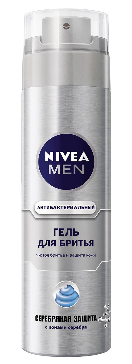 NIVEA Гель для бритья Серебряная защита200 мл1301210•Ионы серебра, экстракт ромашки и провитамин В5, входящие в состав эффективной формулы, защищают от воздействия бактерий уже во время бритья.Как это работает •Чистое и комфортное бритье•Защищает кожу от микропорезов Характеристики:Объем: 200 мл. Производитель: Германия. Артикул: 81358. Товар сертифицирован.
