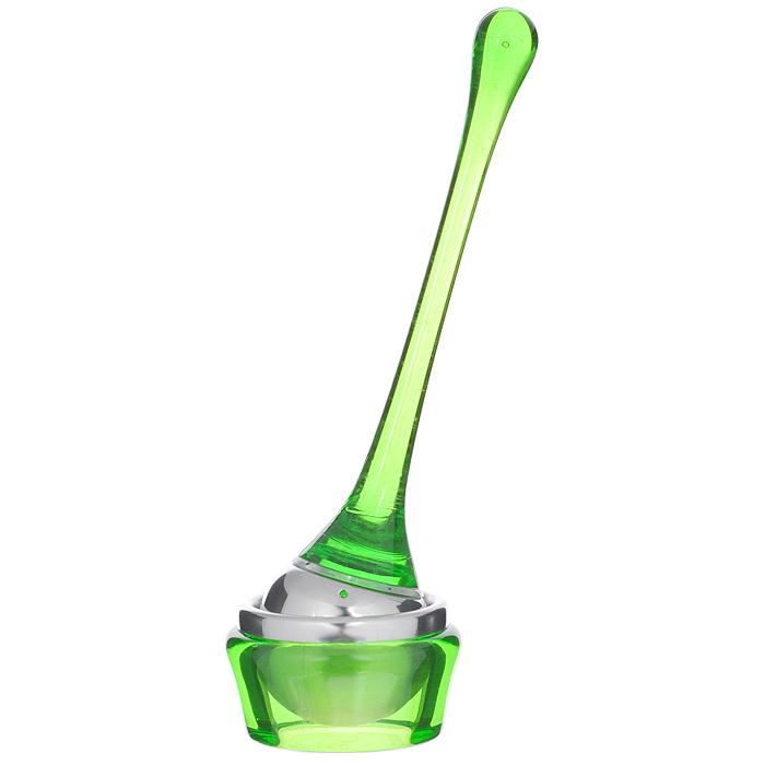 Приспособление для заваривания чая Bradex Марберри, цвет: зеленыйTK 0052Приспособление для заваривания чая Bradex Марберри выполнено из акрила зеленого цвета и нержавеющей стали.Чай - любимый напиток для многих поколений людей. Многие виды чая не только расслабляют или тонизируют, но также помогают при многих заболеваниях нервной системы и желудочно-кишечного тракта.Чтобы всегда, не только дома, но и в дороге, заваривать чай, предлагаем вам уникальное приспособление для заваривания чая. Его очень легко использовать без каких-либо дополнительных средств. С помощью этого приспособления можно не только заварить чай, но также размешать его, чтобы получить насыщенный вкус и аромат.Удобная ручка приспособления комфортно ляжет в руку.Яркий цвет этого оригинального аксессуара придется по вкусу не только ценителям вкусного чая, но также любителям оригинальных подарков.В комплект к приспособлению входит подставка для него, что позволит вам избежать загрязнений поверхности стола.Очень удобно во время поездок на дачу, в путешествиях и походах. Характеристики:Материал: акрил, нержавеющая сталь. Цвет: зеленый. Размер приспособления: 3,5 см х 3,5 см х 16,5 см. Размер подставки: 5,5 см х 5,5 см х 3 см. Размер упаковки: 6 см х 6 см х 17,5 см. Артикул: TK 0052.
