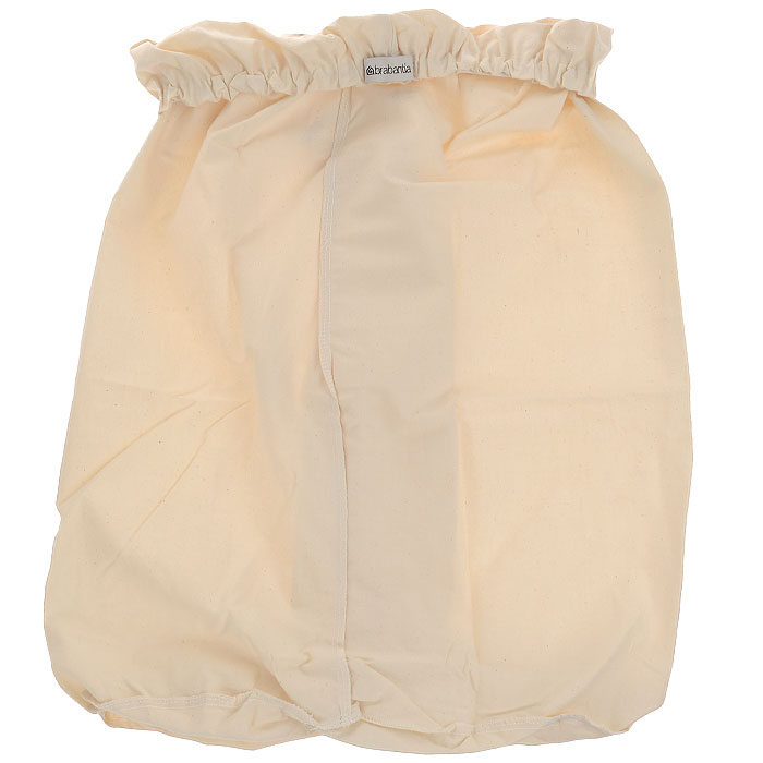 Мешок на бельевой бак Brabantia, 40 л. 3826802159Сменный мешок подойдет для двухсекционного бака для белья Brabantiaобъемом 40 литров. Этот мешок для белья цвета экрю изготовлен из прочной ткани (100% хлопок) и легко стирается. Благодаря эластичным прорезиненным краям мешок легко устанавливается и не соскальзывает в бак. Характеристики: Материал: хлопок. Объем мешка: 40 л. Размер мешка: 26 см х 2 см х 25 см. Артикул: 382680. Гарантия производителя: 5 лет.