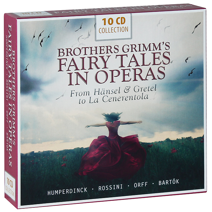 Роли исполняли:CD 1, 2: Brother Grimm's Fairy Tales In Operas. Engelbert Humperdinck. Hansel & Gretel Gretel - Elisabeth Schwarzkopf (Soprano) Hansel - Elisabeth Grummer (Mezzo-Soprano) Witch - Else Schurhoff (Mezzo-Soprano) Mother - Maria Von Ilosvay (Mezzo-Soprano) Father - Josef Metternich (Baritone) Sandman, Dewman - Anny Felbermayer (Soprano) CD 3, 4: Brother Grimm's Fairy Tales In Operas. Gioachino Rossini. La Cenerentola Cenerentola - Marina De Gabarain (Soprano) Don Ramiro - Juan Oncina (Tenor) Dandini - Sesto Bruscantini (Baritone) Don Magnifico - Ian Wallace (Bass-Baritone) Clorinda - Alda Noni (Soprano) Tisbe - Fernanda Cadoni (Soprano) Alidoro - Hervey Alan (Bass-Baritone) CD 5: Brother Grimm's Fairy Tales In Operas. Carl Orff. The Moon - A Little Word TheatreStory-Tiller - Rudolf Christ (Baritone) Vier Burschen - Karl Schmitt-Walter (Baritone), Helmut Graml (Baritone), Paul Kuen (Tenor), Peter Lagger (Bass) A Peasant - Albrecht Peter (Baritone) Saint Peter - Hans Hotter (Bass- Baritone) CD 6: Brother Grimm's Fairy Tales In Operas. Carl Orff. The Wise Woman - The Story Of The King And A Wise WomanThe King - Marcel Cordes (Baritone) The Peasant - Gottlob Frick (Bass) The Wise Woman - Elisabeth Schwarzkopf (Soprano) The Prison Governor - Georg Wieter (Bass) The Wule Owen - Rudolf Christ (Baritone) The Donkey Owen - Benno Kusche (Bass) First Vagabond - Paul Kuen (Tenor) Second Vagabond - Hermann Prey (Baritone) Third Vagabond - Gustav Neidlinger (Bass) CD 7-9: Brother Grimm's Fairy Tales In Operas. Engelbert Humperdinck. Konigskinder King's Son - Peter Anders (Tenor) Goose-Girl - Kathe Moller-Siepermann (Soprano) Minstrel - Dietrich Fischer-Dieskau (Baritone) Witch - Ilsa Imme-Sabisch (Contralto) Woodcutter - Fritz Ollendorf (Bass) Broom-Maker - Walter Jenckel (Tenor) His Daughter - Karl-Heinz WelbersInnkeeper - Heiner Horn (Bass) Innkeeper's Daughter - Hanna Ludwig (Soprano) Tailor - Walter Kassek (Tenor) Stable Girl - Marianne Schroder (Contralto) Senior 