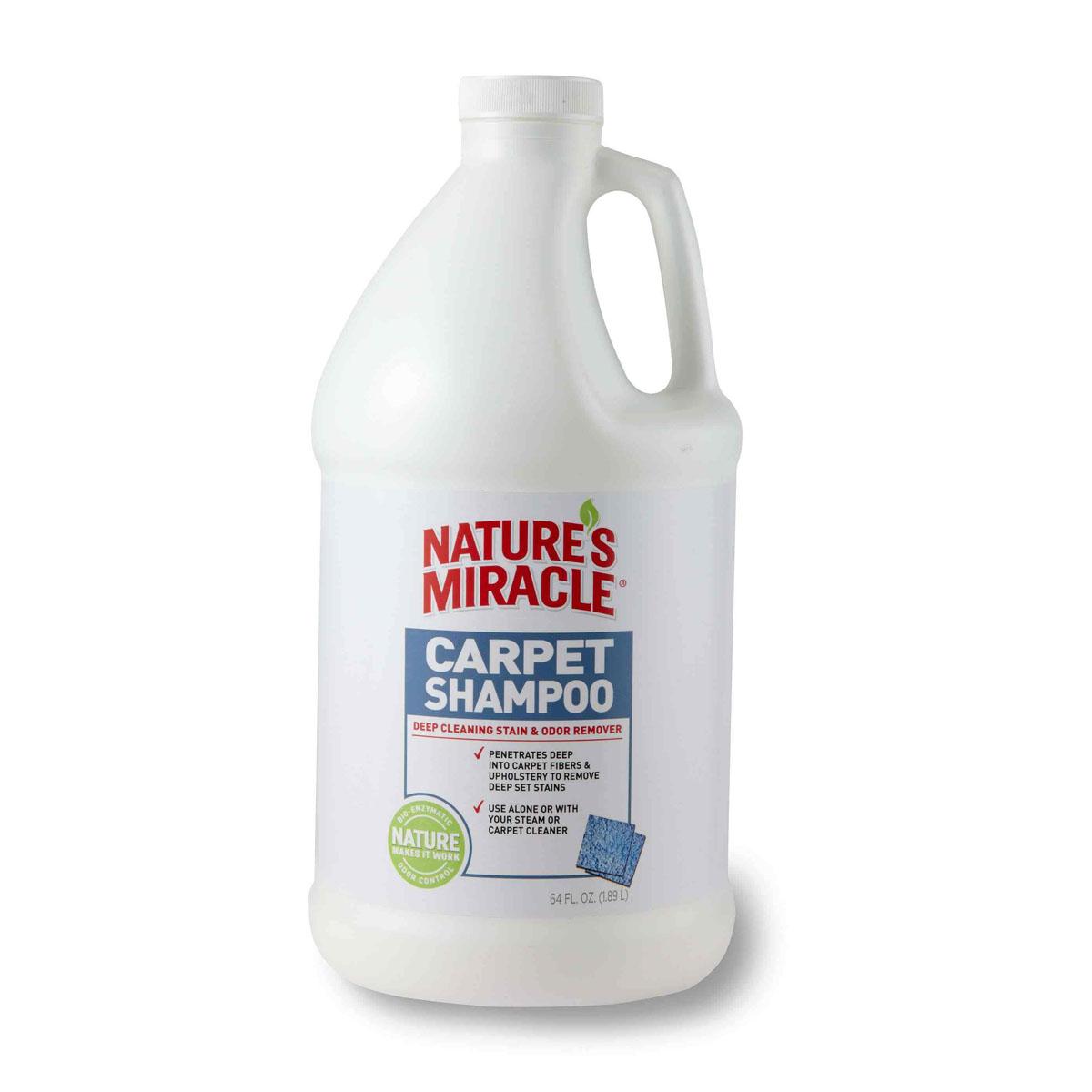 Моющее средство для ковров и мягкой мебели 8 in 1 Natures Miracle, с нейтрализаторами аллергенов, 1,8 лMP-2010Моющее средство для ковров и мягкой мебели 8 in 1 Natures Miracle - оптимальное решение для тех, кто хочет эффективно удалить с ковра пятна и запахи, оставленные животными. Средство можно использовать самостоятельно или вместе с пылесосом, оно глубоко проникает в ворс ковра, вытаскивая на поверхность новые и застарелые пятна, запахи и аллергены. Наша бесфосфатная формула с низким уровнем пенообразования удаляет все загрязнения и освежает ковры. Моющее средство для ковров может использоваться для удаления с ковров пятен и запахов, оставленных собаками, кошками и другими животными. Внимание! Перед применением необходимо протестировать поверхность на цветоустойчивость. Способ применения: тщательно пропылесосить поверхность. Хорошо встряхните бутылку. Используйтемоющее средство для ковров и мягкой мебели в соответствии с инструкциями на пылесосе илипароочистителе. Не рекомендуется использовать моющее средство для очистки вельветовой, шелковой,виниловой, кожаной или 100% хлопчатобумажной обивки.Можно разбрызгивать из пульверизатора. Состав: вода, ПАВ с низким уровнем пенообразования, биоэнзимная технология нейтрализации запахов, пропилен гликоль, ароматизатор. Товар сертифицирован.