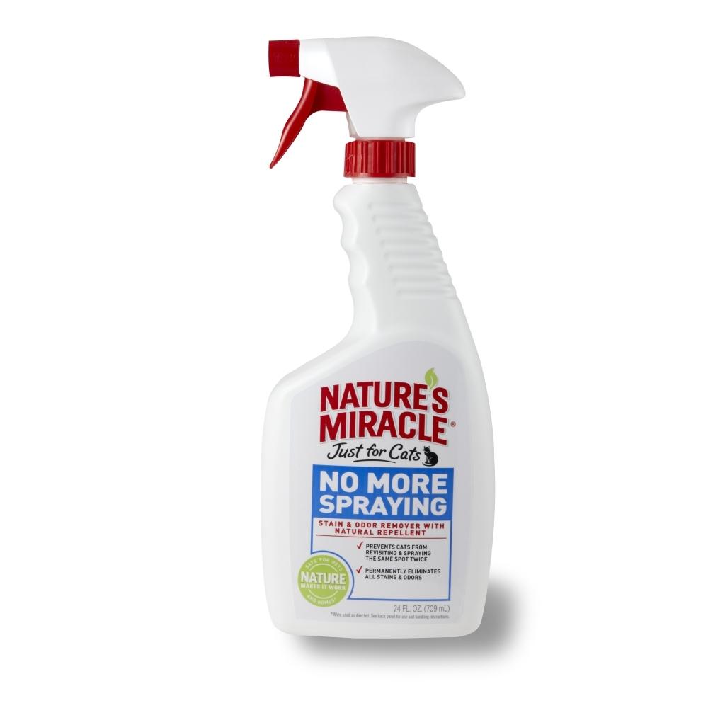 Средство-антигадин для кошек 8 in 1 Natures Miracle, 710 мл0120710Средство-антигадин для кошек 8 in 1 Natures Miracle специально разработано для того, чтобы отучить вашу кошку от привычки оставлять повторные метки, а также, чтобы удалить загрязнения, оставленные кошкой. Формула быстро начинает работать для того, чтобы полностью устранить органические пятна и запахи, оставляя после себя естественный аромат лимона и корицы. Эти запахи инстинктивно не нравятся кошкам, и они предпочитают обходить их стороной. Средство идеально отучает кошку от раздражающей вас привычки и может использоваться на коврах, твердых поверхностях, в спальне и т.д.Внимание! Перед использованием обязательно протестируйте небольшой участок поверхности на цветоустойчивость. Хранить в местах недоступных для детей.Способ применения: Перед применением хорошо встряхнуть, не разводить! Для предупреждения повторных меток: тщательно смочите средством запачканную поверхность, оставьте на пять минут, вытрите салфеткой. При необходимости повторите операцию.Устранение неприятных запахов: предварительно очистите загрязненную поверхность, обильно обработайте средством (при чистке ковров, для более эффективного устранения запаха, обработайте поверхность под коврами). Проветрите помещение. Удаление пятен: нанесите средство на пятно, оставьте на пять минут, вытрите салфеткой. Для очень стойких пятен воспользуйтесь жесткой щеткой. Если пятно не исчезло, повторно обильно смочите его средством, оставьте на 1 час, остатки жидкости удалите салфеткой. Состав: натрия лаурилсульфат 1,5%, масло корицы 0,12%, масло лимонграсса 0,12%, вода, бензоат натрия, лимонная кислота. Товар сертифицирован.