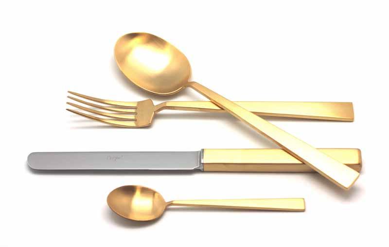 Набор столовых приборов Bauhaus Gold мат. набор 24 предмета 93221155109322 BAUHAUS GOLD мат. Набор 24 пр. Характеристики: Материал: сталь.Размер: 405*295*65мм.Артикул: 9322.