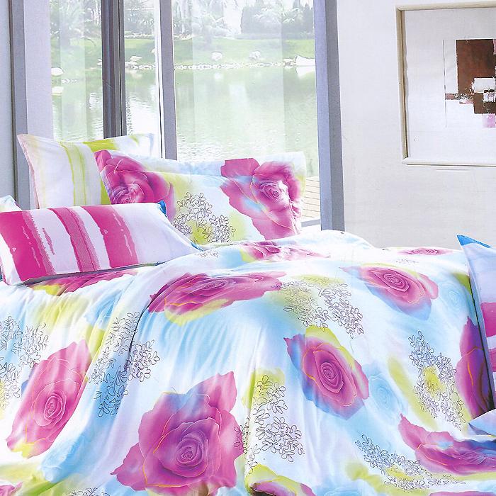 Комплект белья Жозефина (2-х спальный КПБ, сатин, наволочки 50х70), цвет: голубой, розовый68/5/3Комплект постельного белья Жозефина является экологически безопасным для всей семьи, так как выполнен из натурального хлопка. Комплект состоит из пододеяльника, простыни и двух наволочек. Постельное белье оформлено оригинальным ярким рисунком и имеет изысканный внешний вид.Сатин - производится из высших сортов хлопка, а своим блеском, легкостью и на ощупь напоминает шелк. Такая ткань рассчитана на 200 стирок и более. Постельное белье из сатина превращает жаркие летние ночи в прохладные и освежающие, а холодные зимние - в теплые и согревающие. Благодаря натуральному хлопку, комплект постельного белья из сатина приобретает способность пропускать воздух, давая возможность телу дышать. Одно из преимуществ материала в том, что он практически не мнется и ваша спальня всегда будет аккуратной и нарядной. Характеристики: Страна: Россия. Материал: сатин (100% хлопок). В комплект входят: Пододеяльник - 1 шт. Размер: 175 см х 210 см. Простыня - 1 шт. Размер: 180 см х 224 см. Наволочка - 2 шт. Размер: 50 см х 70 см. Высокие свойства белья торговой марки Коллекция основаны на умелом использовании вековых традиций и современных технологий производства и обработки тканей. Качество исходных материалов, внимание к деталям отделки, отличный пошив, воплощение новейших тенденций мировой моды позволяют постельному белью гармонично влиться в современное жизненное пространство и подарить ощущения удовольствия и комфорта.