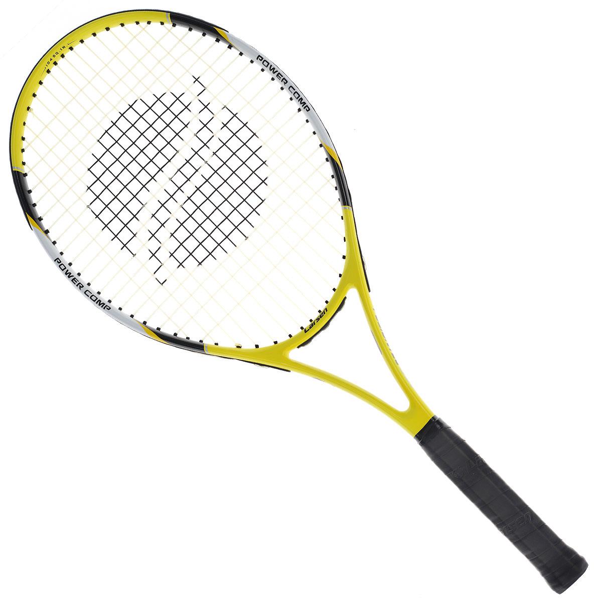 Ракетка для большого тенниса Larsen 530332515-2800Ракетка для большого тенниса Larsen 530 - отличный выбор для любителей большего тенниса. Основа этой ракетки изготовлена из алюминия и графита, тем самым, делая эту ракетку легкой и очень удобной. Уверенная и надежная игра на теннисном корте с этой ракеткой вам обеспечена. Характеристики: Материал: алюминий, графит. Вес: 300 г +/-5 г. Длина: 25. Баланс: 315 мм +/-7,5 мм. Рекомендуемое натяжение: 47-52 lbs/21-24 кг. Размер упаковки: 73 см х 32 см х 3 см.