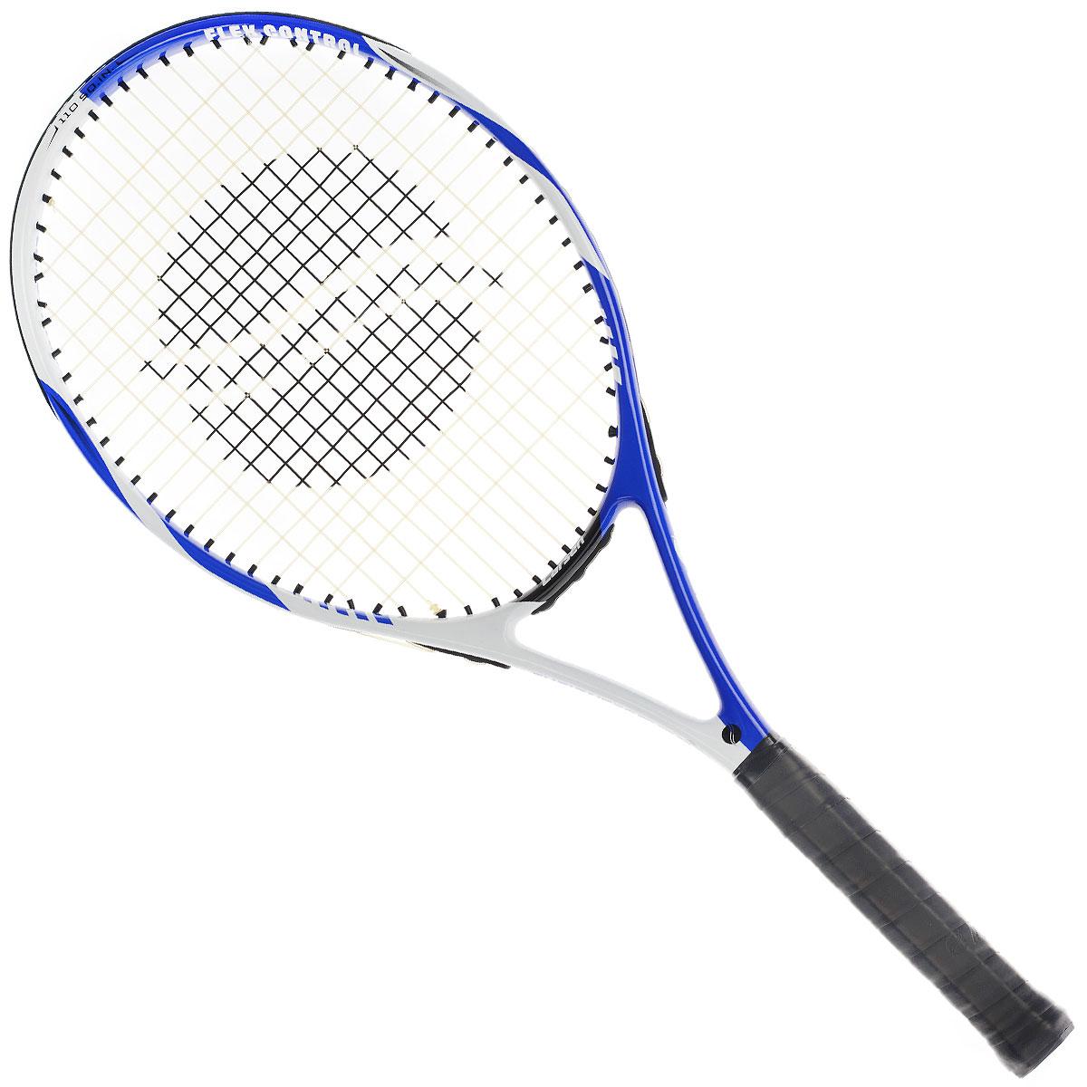 Ракетка для большого тенниса Larsen 577124438Ракетка для большого тенниса Larsen 577 выходит в составе любительской серии для игроков среднего уровня. Небольшой вес сочетается с достаточно большой игровой поверхностью 110 квадратных дюймов. Соединения ракетки литые, используемые при изготовлении материалы - алюминий и графит Характеристики: Материал: алюминий, графит. Вес: 285 г +/-5 г. Длина: 27. Баланс: 335 мм +/-7,5 мм. Рекомендуемое натяжение: 47-52 lbs/21-24 кг. Размер упаковки: 73 см х 31 см х 3 см.