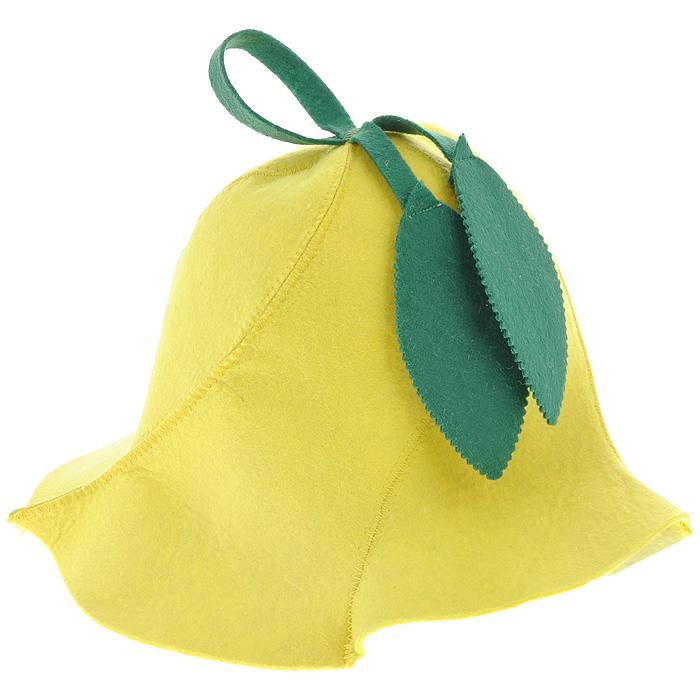 Шапка для бани и сауны Доктор баня Вьюнок, цвет: желтый787502Шапка для бани и сауны Доктор баня Вьюнок изготовлена из фильца (100% полиэстер) - нетканого полотна. Это незаменимый аксессуар для любителей попариться в русской бане и для тех, кто предпочитает сухой жар финской бани. Необычный дизайн изделия поможет сделать ваш отдых приятным и разнообразным, к тому же шапка защитит вас от головокружения в парилке, ваши волосы - от сухости и ломкости, а голову - от перегрева.Такая шапка станет отличным подарком для любителей отдыха в бане или сауне.Диаметр основания шапки: 31 см. Высота шапки: 26 см.