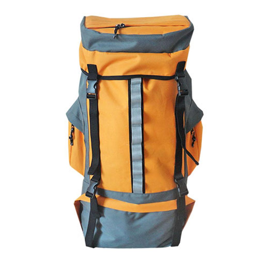 Рюкзак туристический Happy Camper, цвет: серый, оранжевый. R-811R-735Рюкзак туристический Happy Camper имеет большое отделение и боковые карманы. Отделениязакрывается на застежки-молнии. Особенности:Съемный алюминиевый каркас;Грудной Фиксатор лямок;Боковые стяжки;Вместительные внешние карманы;Две застежки в верхней части рюкзака и дополнительная внизу. Характеристики:Размер рюкзака: 62 см х 37 см х 17 см. Объем рюкзака: 70 л. Материал: оксфорд, полиэстер.