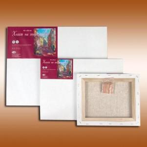 """Холст """"Гамма"""" на подрамнике выполнен из льна и хлопка, прогрунтован и предназначен для живописи масляными и акриловыми красками."""